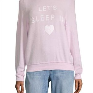 Wildfox Let's Sleep In Sweatshirt